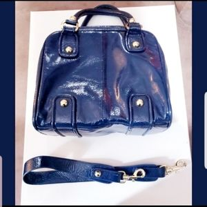 DUNE Navy Blue Patent Leather Crossbody Purse